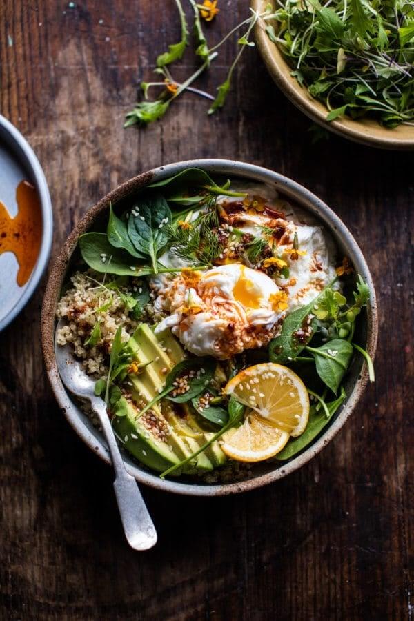 Turkish Egg and Quinoa Breakfast Bowl