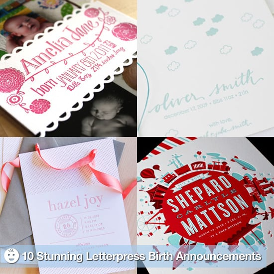 Elegant Letterpress Birth Announcements – Elegant Birth Announcements