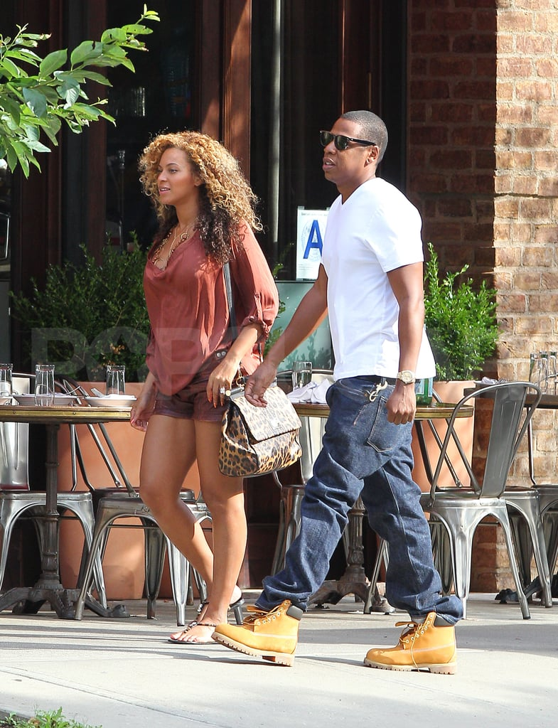 Beyoncé Knowles carried a Dolce & Gabbana handbag on her way to get brunch at Locanda Verde with Jay-Z in their Tribeca neighborhood on Saturday. The couple sat down to eat at the chic restaurant, but Beyoncé's pregnancy cravings are said to be slightly unusual — the star is apparently obsessed with bananas and ketchup! She and Jay-Z are home in the Big Apple after a vacation in honor of her 30th birthday around the Mediterranean. After a stint in Venice, Beyoncé was in a bikini for a day in the sun on the Croatian island of Hvar last week.