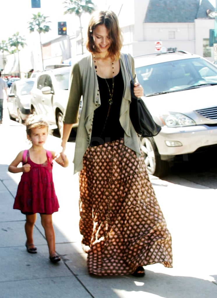 Jessica Alba Takes Her Honorary Shopping Buddy Around Town
