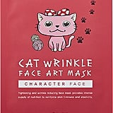 SNP Cat Wrinkle Face Art Mask Sheet