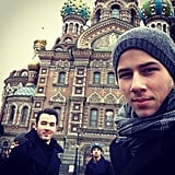 "The ""NMJC in Russia With the Bros, HBU?"" Selfie"