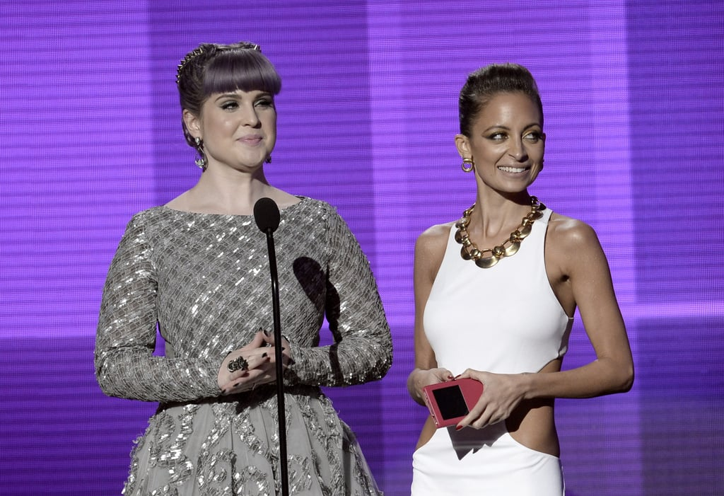 Nicole Richie presented with Kelly Osbourne at the 2013 American Music Awards.