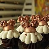Strawberry-Filled Rose Gold Cupcake