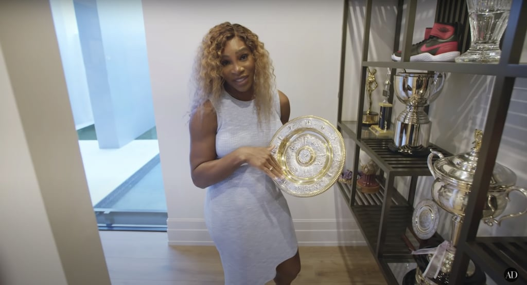 Serena said she doesn't keep second-place trophies in this room (or at all)!