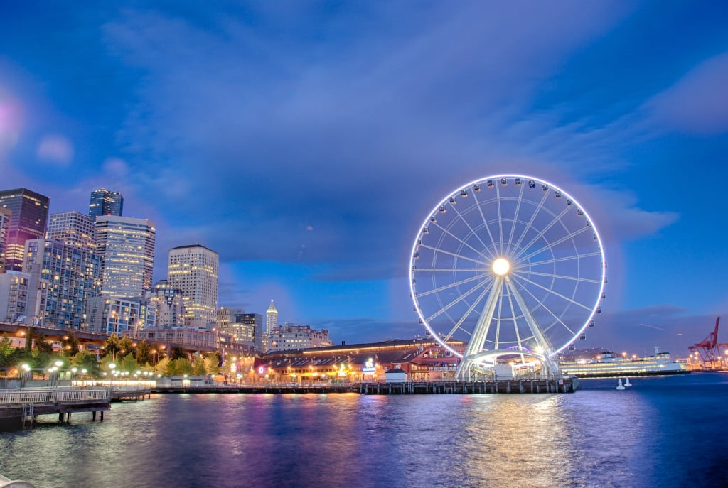 Thrills and chills await on the iconic Seattle Great Wheel.