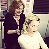 Jaime King had her hair done — in 10 minutes! — by Candy Walkin. Source: Instagram user jaime_king