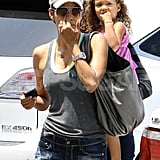 Halle Berry and daughter Nahla Aubry hang out in LA.