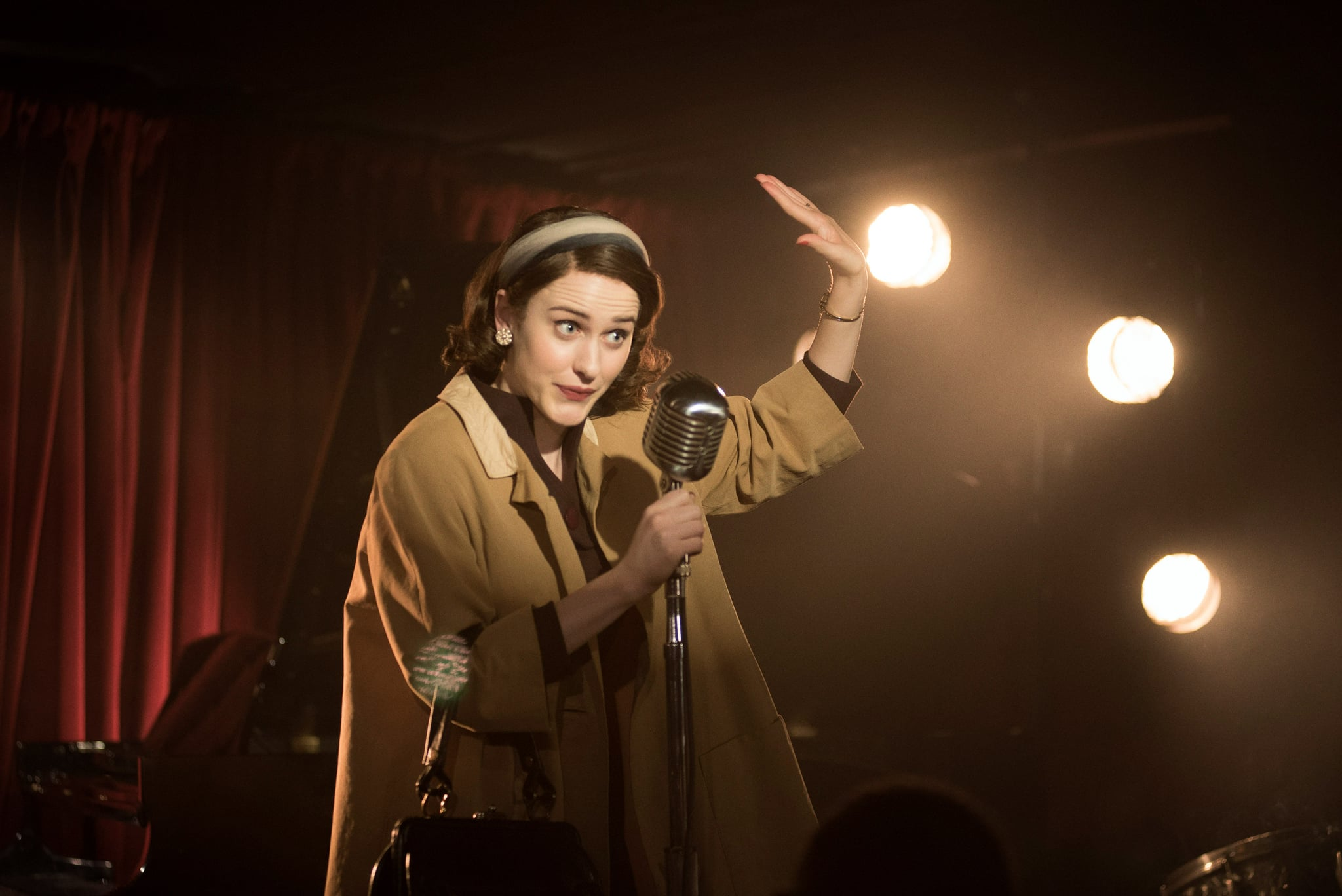 THE MARVELOUS MRS. MAISEL, Rachel Brosnahan, 'Because You Left', (Season 1, ep. 103, aired November 29, 2017). photo: Nicole Rivelli / Amazon / courtesy Everett Collection
