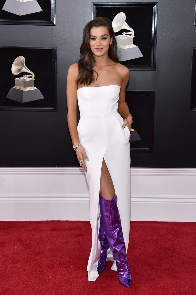 Hailee Steinfeld's Purple Boots at the Grammys 2018