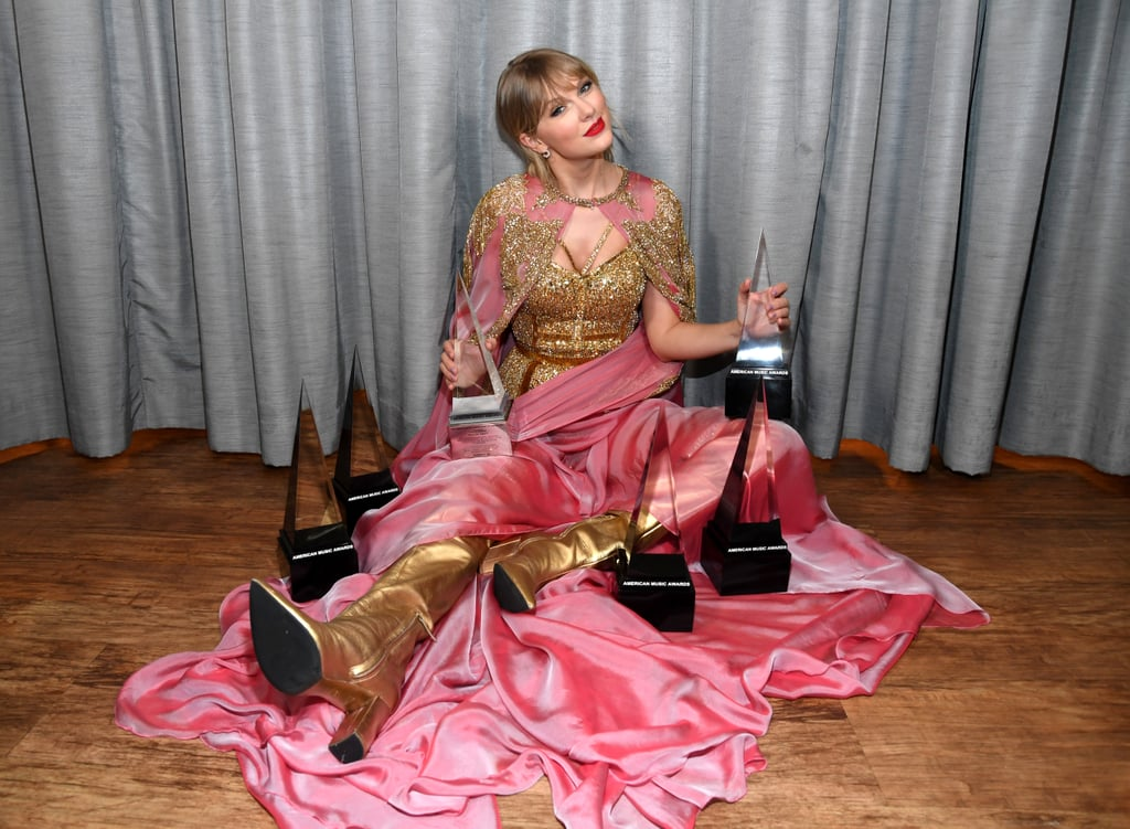 Following the release of her Lover album, Taylor dethroned A Star Is Born as the bestselling album of 2019, earning $500,000 in sales by its second day alone.  Taylor was the guest of honor at the 2019 American Music Awards as she took home the artist of the decade award for the impact she has made on pop music. During the award show, she also made history as the most awarded artist at the AMAs with 28 wins.  On top of all of that, Taylor is set to receive Billboard's first-ever woman of the decade award during the ceremony on Dec. 12.