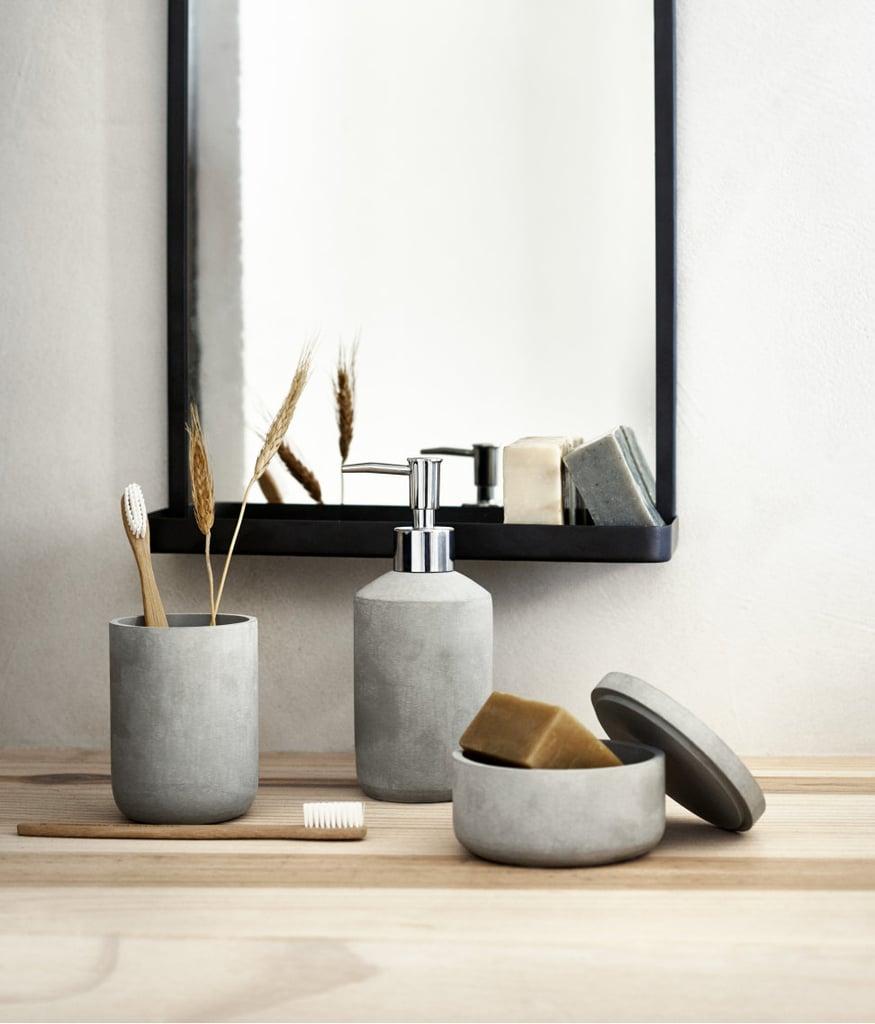 H&M Faux Stone Toothbrush Mug