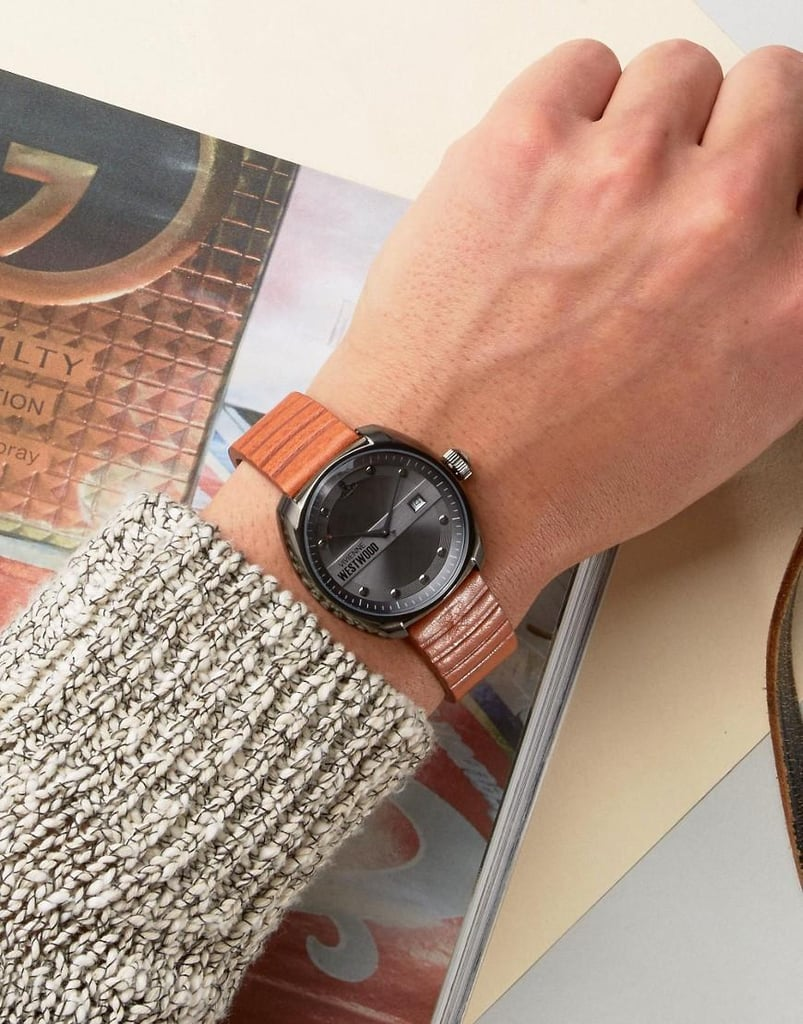 The Vivienne Westwood VV080GNTN Bermondsey Leather Watch In Tan ($332) has that vintage aesthetic so many guys will love.