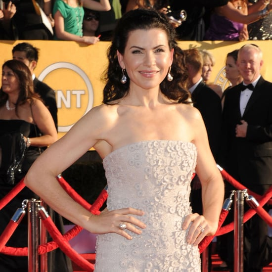 Julianna Margulies White Gown Pictures at SAG Awards 2012