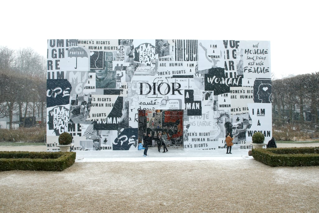 The Outdoor Setting in Paris Was a Building Covered in Signs From 1968