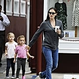 Jennifer Garner was accompanied by daughter Seraphina for a coffee stop in LA.