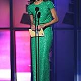 Zoe Saldana at the 2011 Latin Grammy Awards.