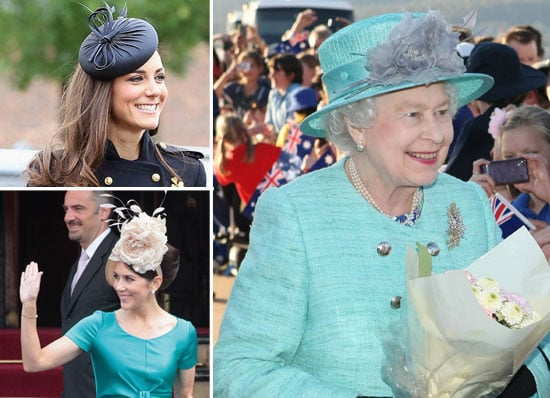 If it's one thing the royal family know how to do properly, it's hats! With Queen Elizabeth II touching down in Canberra last night, we thougt we'd look to HRH and the rest of the young and fabulously royal crew for some head wear pointers for this weekend's Cox Plate race day! Now, we're not suggesting that you run out and buy a turquoise, rose-adorned topper to finish off your ensemble for Saturday, but there are some inspiring styles from Catherine Duchess of Cambridge and our own Princess Mary that you can steal. Editor's note: Princess Beatrice's 'pretzel' number does not feature.
