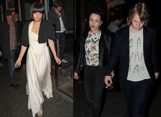 14/5/2009 Lily Allen, Alfie Allen and Jaime Winstone