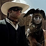 Armie Hammer as The Lone Ranger It's a little bit of a shame that Armie Hammer's face is covered up by that mask in The Lone Ranger, but there's still enough there to swoon over. Honorable mention for Johnny Depp: he may not look so hot as Tonto, but he's still Johnny Depp.