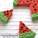 Watermelon-Shaped Rice Krispies Treats