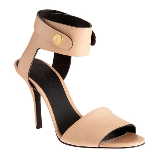 A sexy yet totally simple take on the pale pink ankle-strap sandal.  Alexander Wang Amber Sandals ($475)