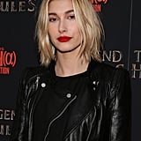 Hailey Baldwin's Blond Lob in January 2014