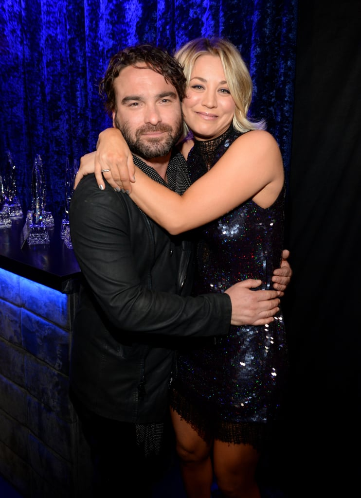 Exes Kaley Cuoco and Johnny Galecki showed off their sweet friendship backstage in 2016.