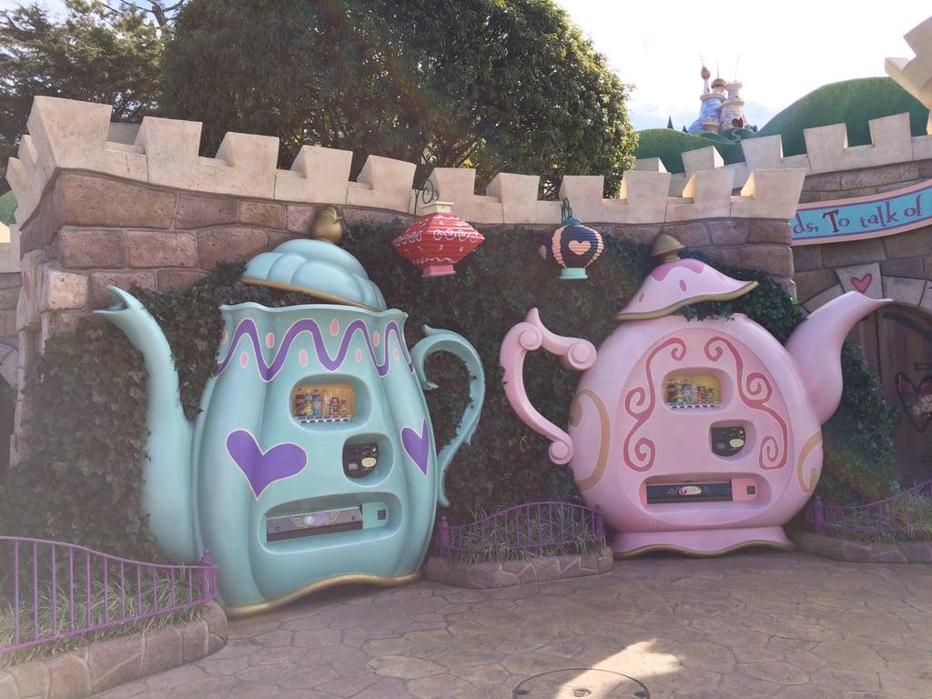 Like these super cute teapot vending machines.