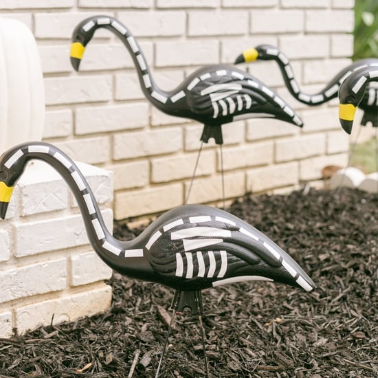 These Skeleton Flamingos Are Scary Easy to DIY For Halloween