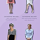Princess Diana and Kate Middleton Wearing Catherine Walker