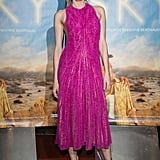 Diane looked pretty in a pink Boss number at the Sky premiere in France.