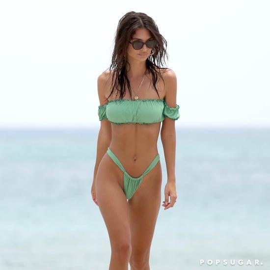 Emily Ratajkowski's Green Bikini in Miami 2018