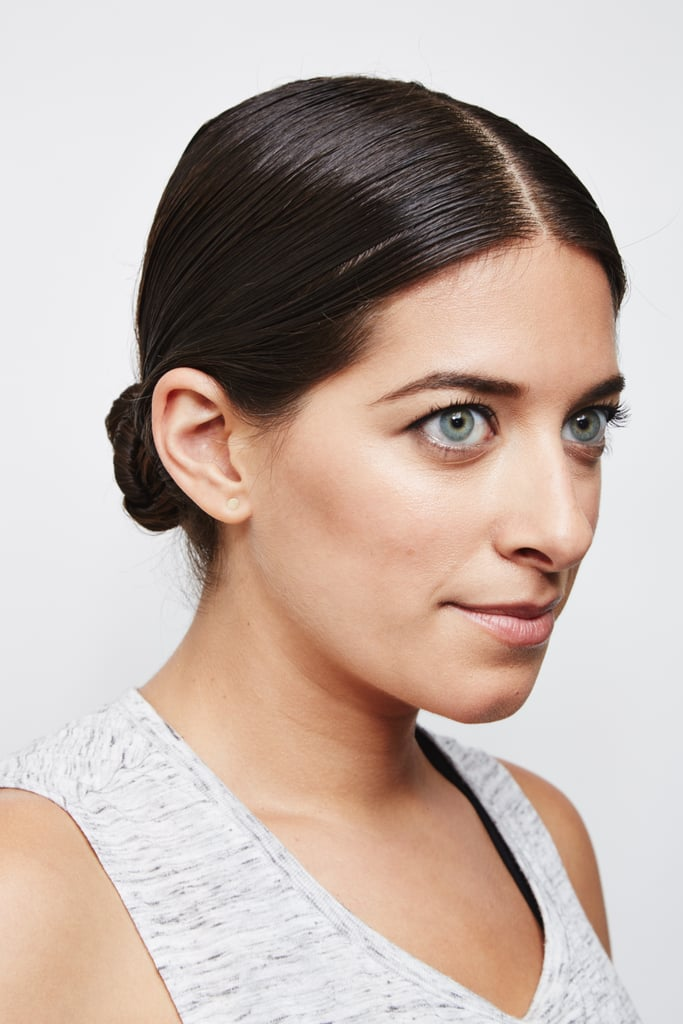 """Foundation: """"You don't need moisturizer underneath [your foundation] if you're going to the gym,"""" she said. """"Just wear a little bit of tinted moisturizer if you want to keep the pink out of your skin."""" Also, you can just use foundation where you need coverage if you don't want it all over your face. """"You can apply it just in spots around the nose and on the chin,"""" she said. """"It's great to have portable on-the-go before or after working out, and for touch-ups throughout the day."""" Try: Bobbi Brown Tinted Moisturizer SPF 15 ($46). The multitasking formula offers a sheer tint while nourishing skin with jojoba oil. Brows: If you do nothing else to your eyes, at least brush and fill in your brows. It will make you look more polished since your arches are like the curtains to your face.  Try: Bobbi Brown Perfectly Defined Long-Wear Brow Pencil ($42). This slanted pencil promises 16-hour wear thanks to a water-resistant wax formula. The spoolie brush will fix any hairs that went out of place during your workout."""