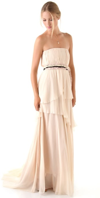 For the nontraditional bride, this gown's off-white hue and relaxed shape would be an ideal option.  Girl. By Band Of Outsiders Charlotte Strapless Dress ($910, originally $1,300)