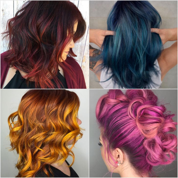 Rainbow Balayage Hair Color Inspiration Popsugar Beauty