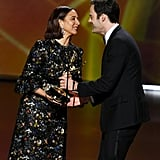 Maya Rudolph and Bill Hader at the 2019 Emmys