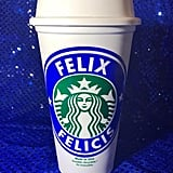 "Fantastic Harry Potter Personalized Customized ""Felix Felicis"" Starbucks Cup ($10)"