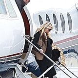 Eric Johnson and Jessica Simpson after the Super Bowl.