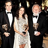 Daniel Day Lewis, Marion Cotillard, and Sir Anthony Hopkins, 2008