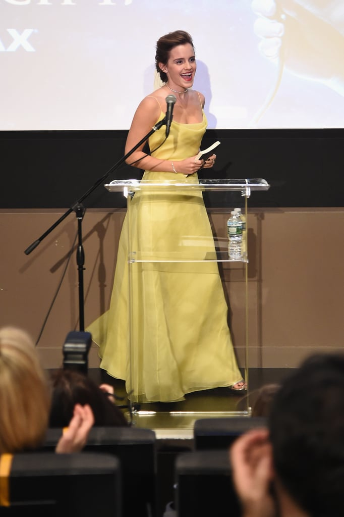 Emma Watson Spoke at Lincoln Center's Beale Theater