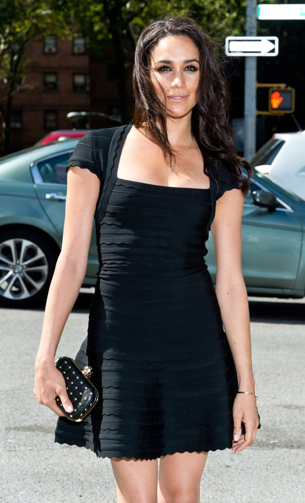 Meghan wore a black minidress on day three of New York Fashion Week in September 2013.