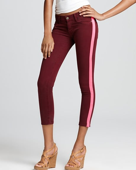 The best thing about these striped jeans? They glow in the dark!  Hudson Jeans -Lou Lou Tuxedo Stripe Crop Skinny Jeans ($198)