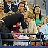 Keith Urban planted a kiss on Nicole Kidman during the US Open in August.