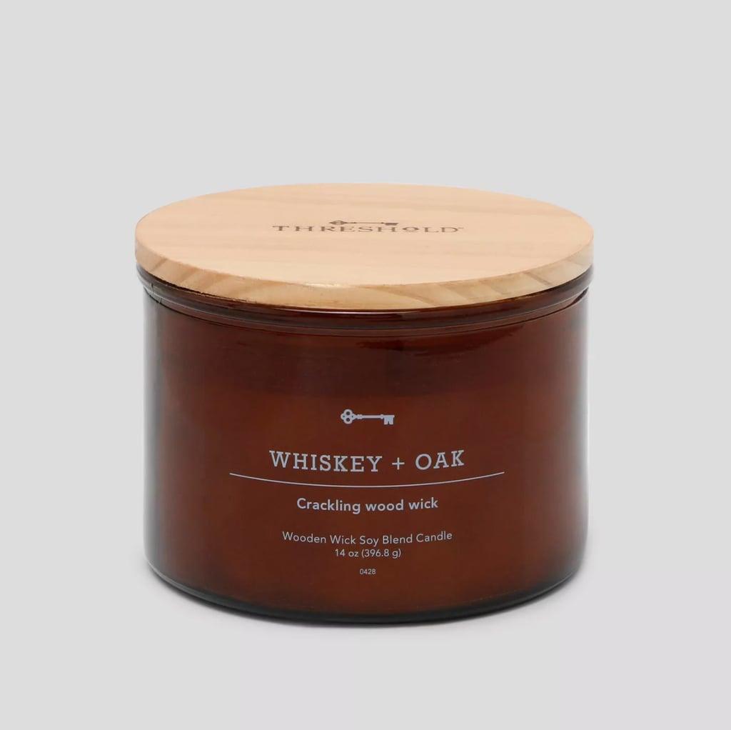 Get Lit: Threshold Whiskey & Oak Crackling Candle