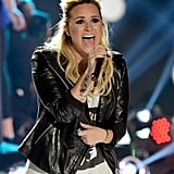 Demi Lovato performed at the Teen Choice Awards.