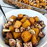 Cinnamon Date Roasted Butternut Squash, Parsnips, and Tofu