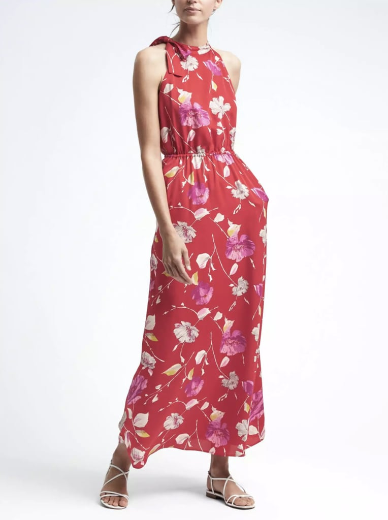 c5c09815a Banana Republic Floral Tie-Neck Maxi Dress | Dresses For Work ...