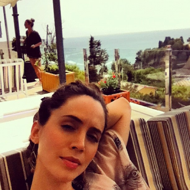 "Eliza Dushku relaxed at a ""secret destination."" Source: Instagram user elizadushku"