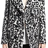 Rebecca Minkoff Luke Leopard Print Wool Blend Coat ($448)
